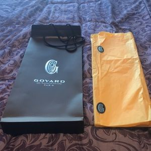 Goyard paper bag with tissue